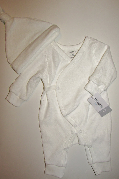 Carters terry sleeper set white size N