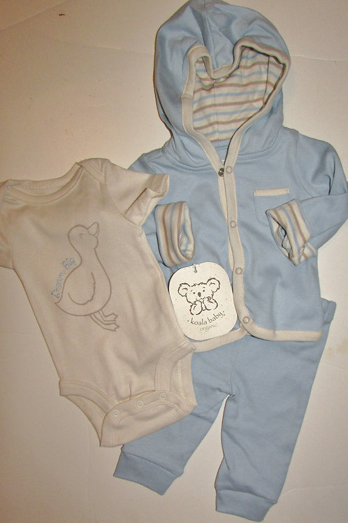 Koala Baby 3 pc organic set blue/cream/duck N