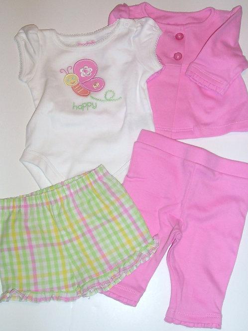 Garanimals 4 pc pink/white size N