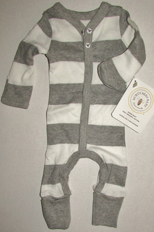 Burts Bees coverall graywhite size P