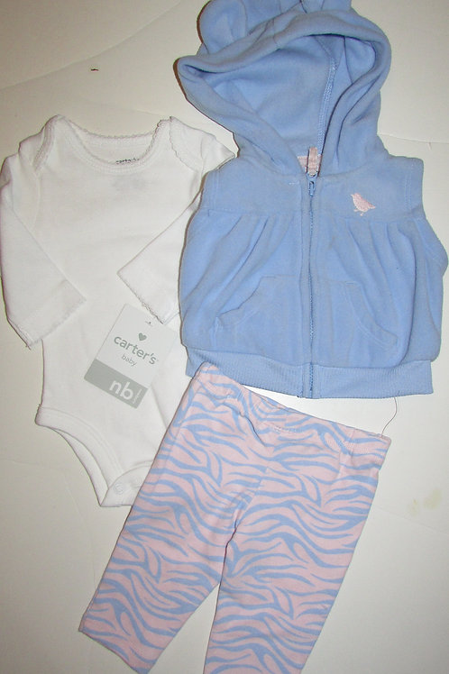 Carters white/blue/pink size N