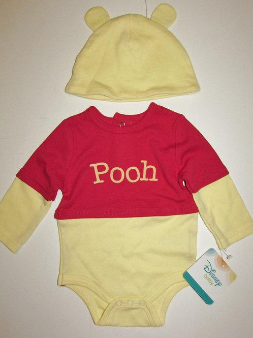 Disney Winnie the Pooh creeper set red/yellow Pooh motif size 0-3 mo