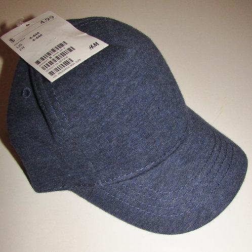 H&M ball cap denim look light weight size 4-6 mos