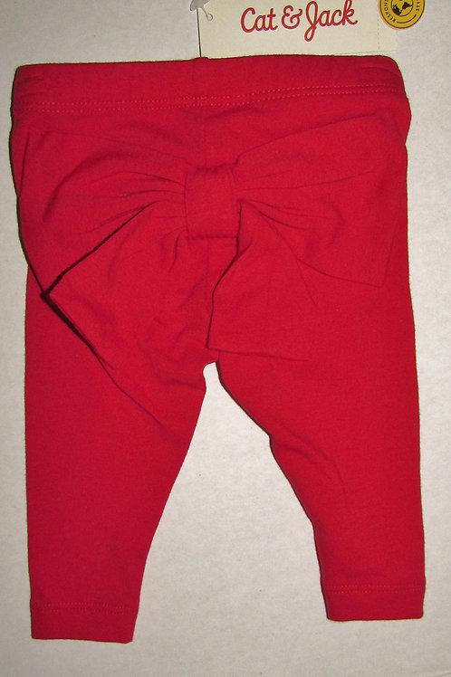 Cat & Jack leggings red/bow size N