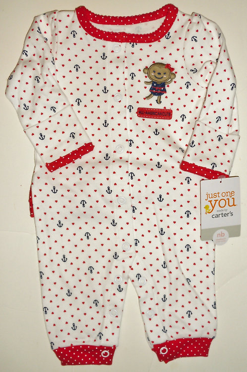 Carters white/red size N