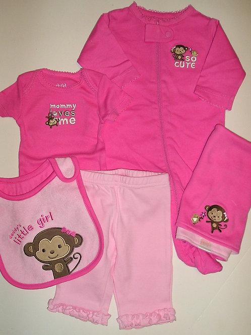Child of Mine 5 pc pink/monkey size N