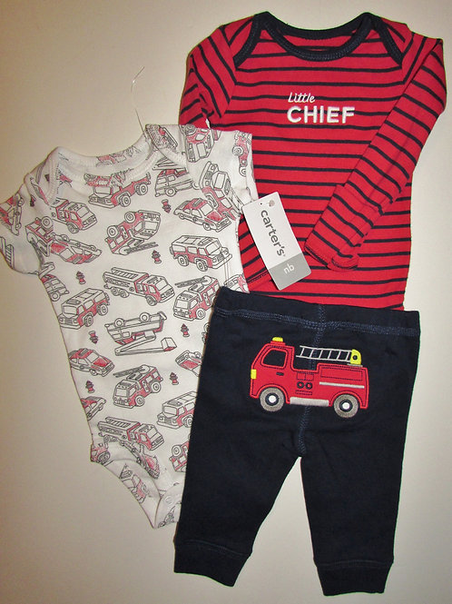 Carters 3 pc set truck size N