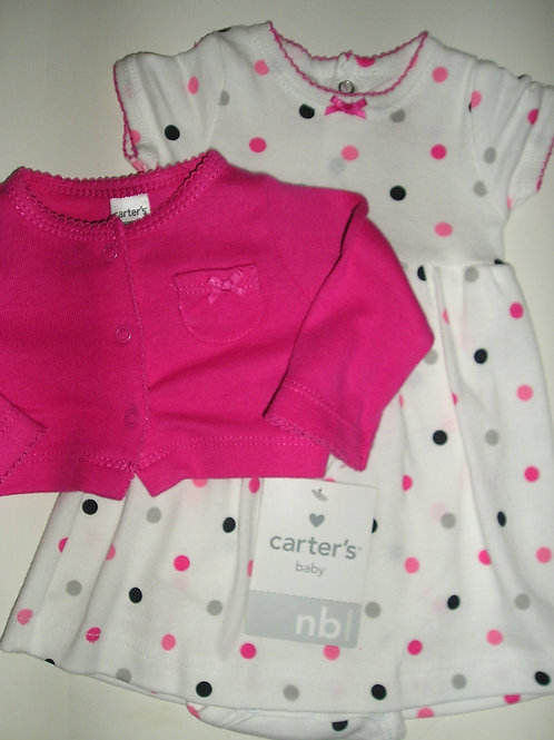 Carters white/pink size N