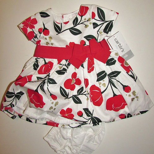 Carters white/red floral size N