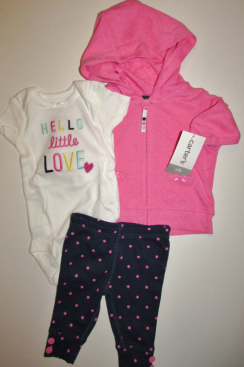 Carters pink/navy size N