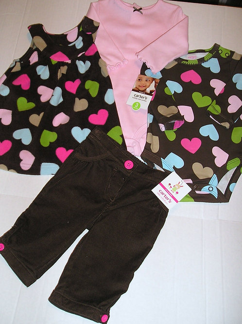 Carters  brown/pink size 3 mos