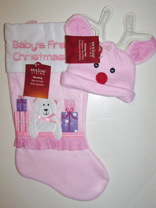 Holiday Living Christmas set pink/gingham