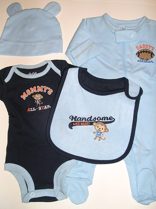 Child of Mine 4 pc set blue sport size Newb