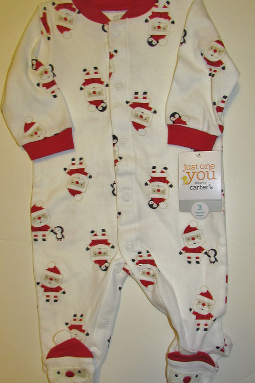 Just One You sleeper white/red/Santa size 3 mo