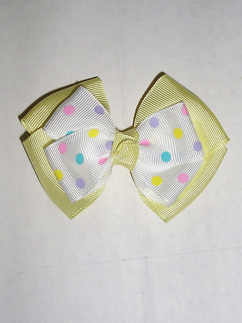 Faded Glory large bow/dots clip