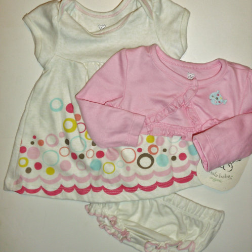 Koala Baby dress cream/pink size N