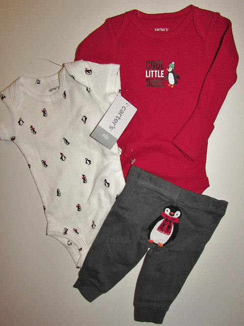 Carters red/whit/gray size N