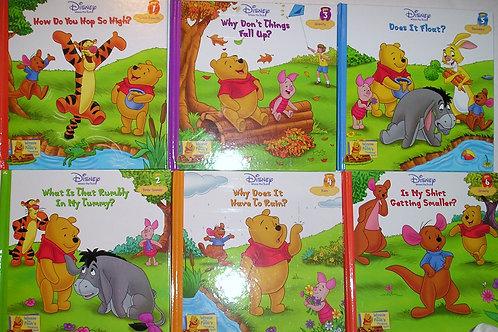 Disney set of 6 Pooh books