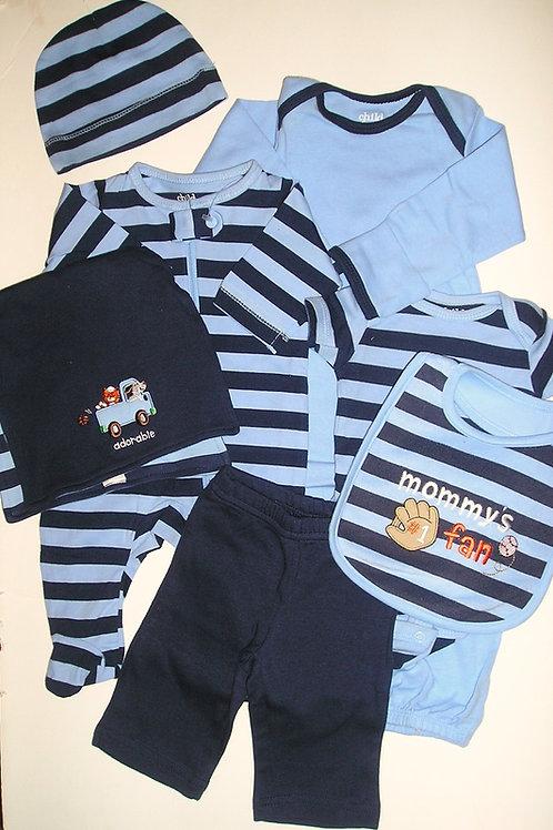 Child of Mine 7 pc set stripes size N
