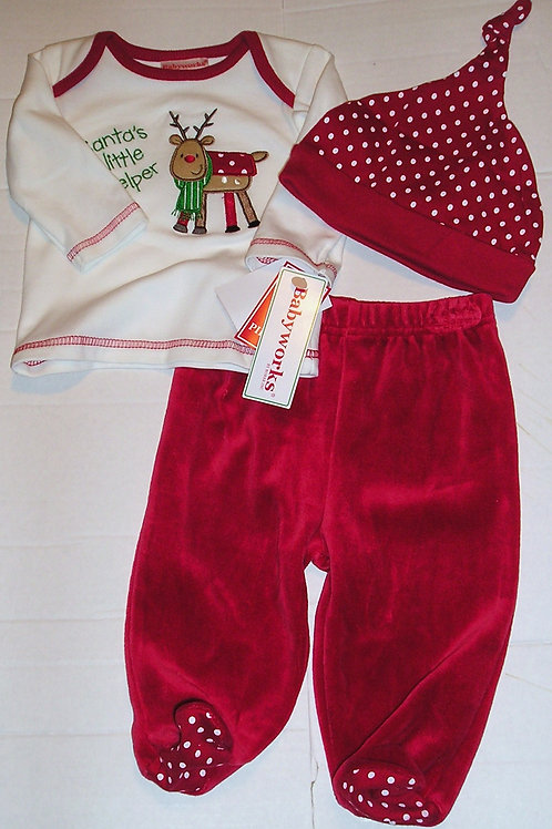 Baby Works 3 pc set/deer size 3 mo