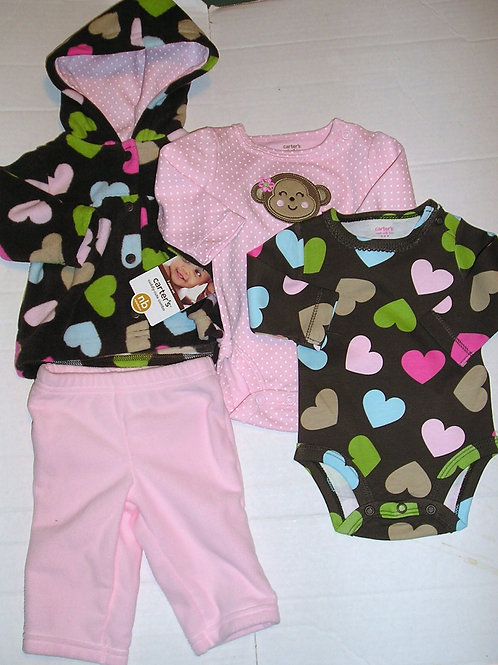 Carters brown/hearts size N