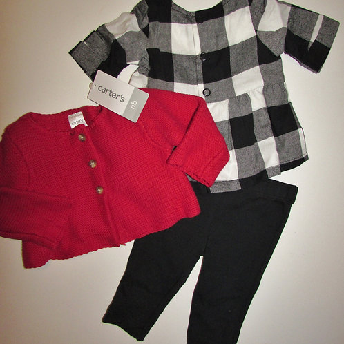 Carters  black/white/red size N