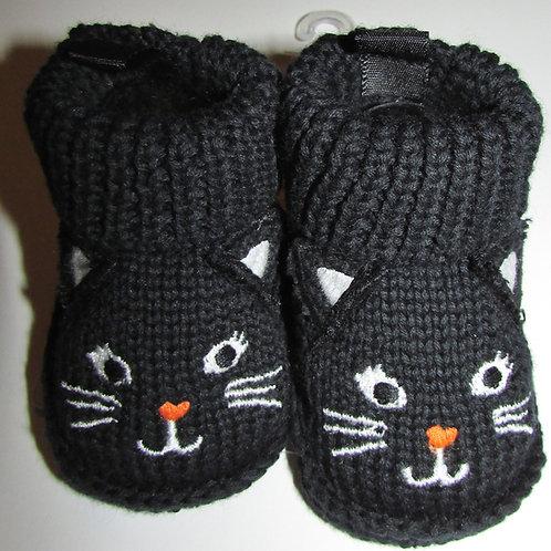 Carters black cat booties size N