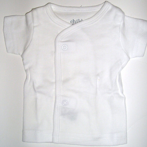Child of Mine snap tee white Newborn