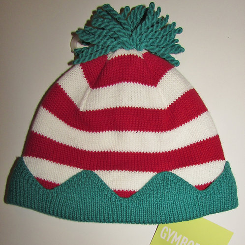 Gymboree knit hat red/white/grn size 0-6 mo