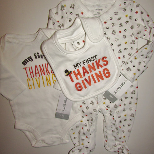 Carters white/Thanks size N