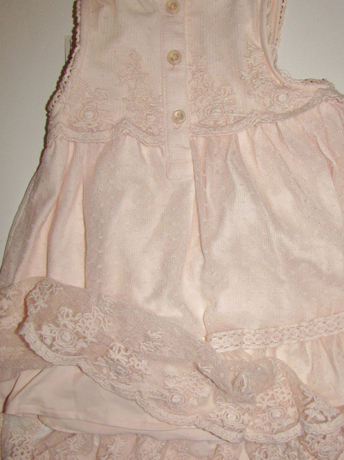 ecd8ad52f Catherine Malandrino Mini dress set peach/lace overlay size 3-6 mo