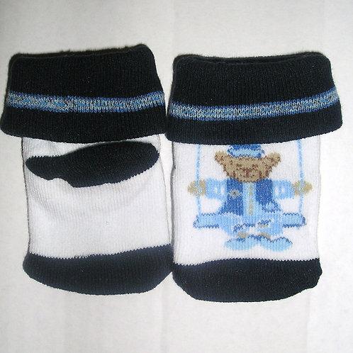 Coney Isl socks white/navy size N