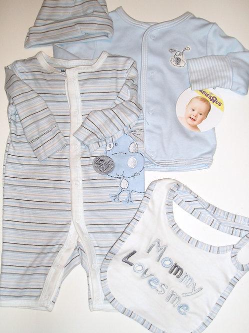 Babies R Us white/blue size N