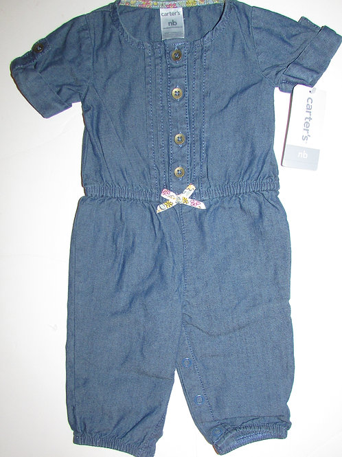 Carters denim coverall size N