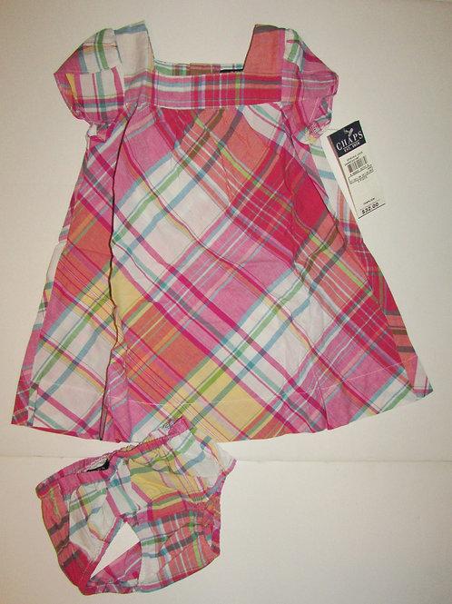 Chaps 2 pc dress set size 18 mo