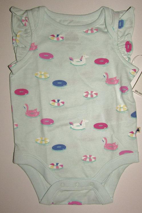 Baby Gap creeper aqua size 0-3 mo