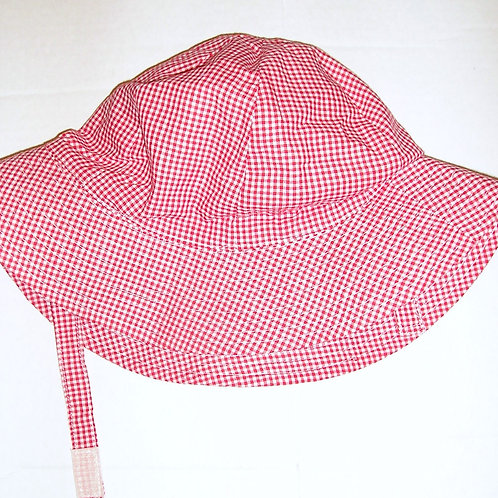 Bob Bebe sunhat red checked 0-6 months