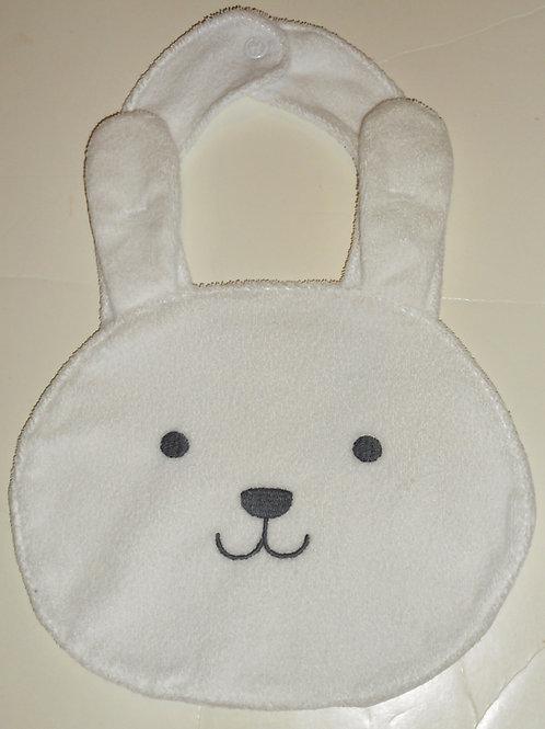 Child of MIne terry bib white bunny