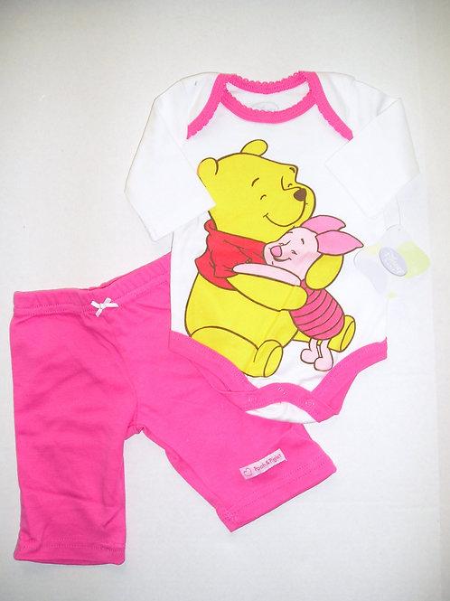 Disney Pooh pink/white size N