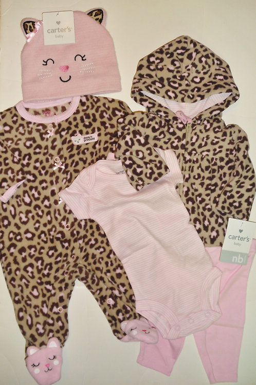 Carters brown/pink/kitty size N