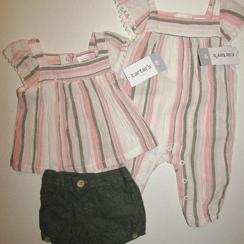 Carters white/stripes size N