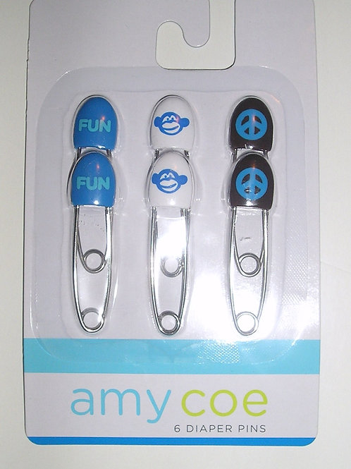 Amy Coes safety pins white/blue
