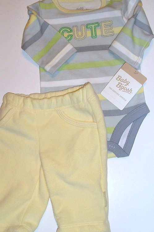 Baby B'Gosh yellow/stripe size N