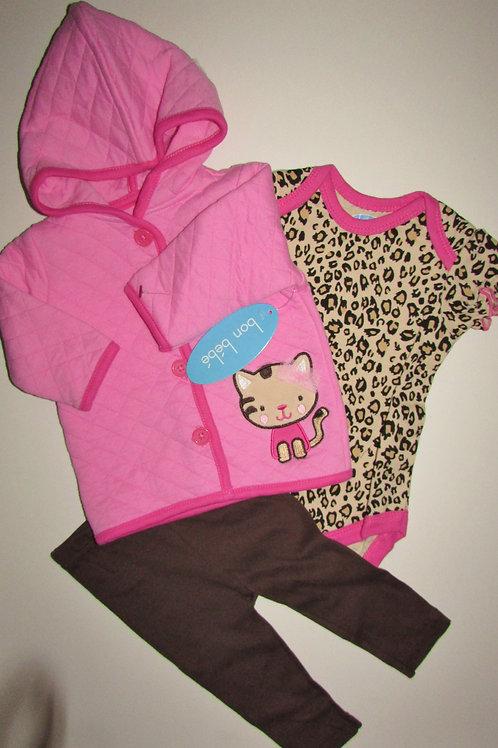 Bon Bebe pink/print size 0-3