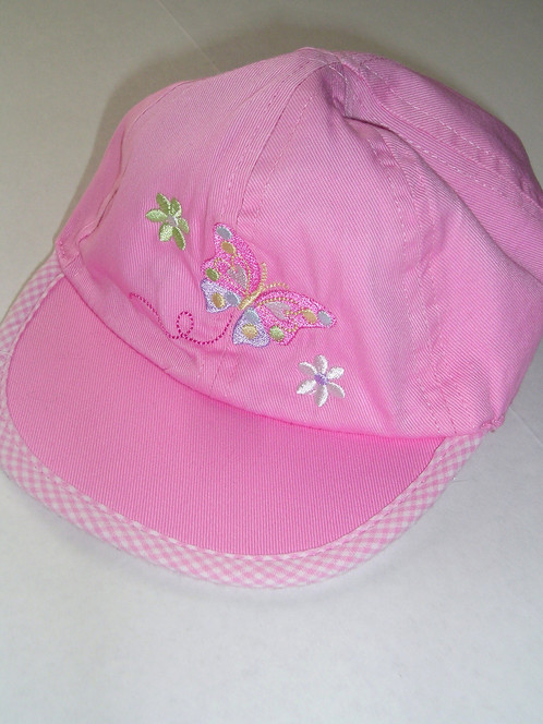 Kid Connection ball cap pink flowers Large Newborn b846f096bd4