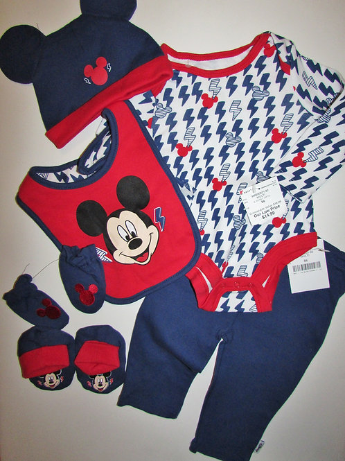 Disney Mickey 6 pc set size 3-6