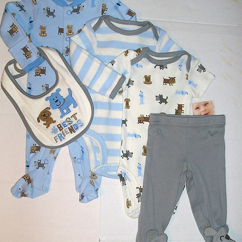 Carters 5 pc set dogs size N