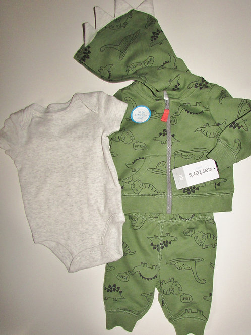Carters 3 pc set green size N