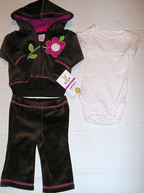 Carters brown/pink size N