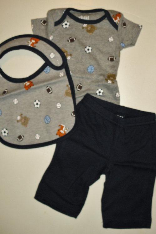 Child of Mine 3 pc set gray/navy/sport Newborn